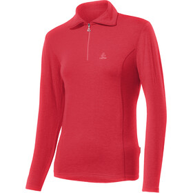 Löffler Basic Transtex Sweat-shirt Zip avec col Femme, flamenco